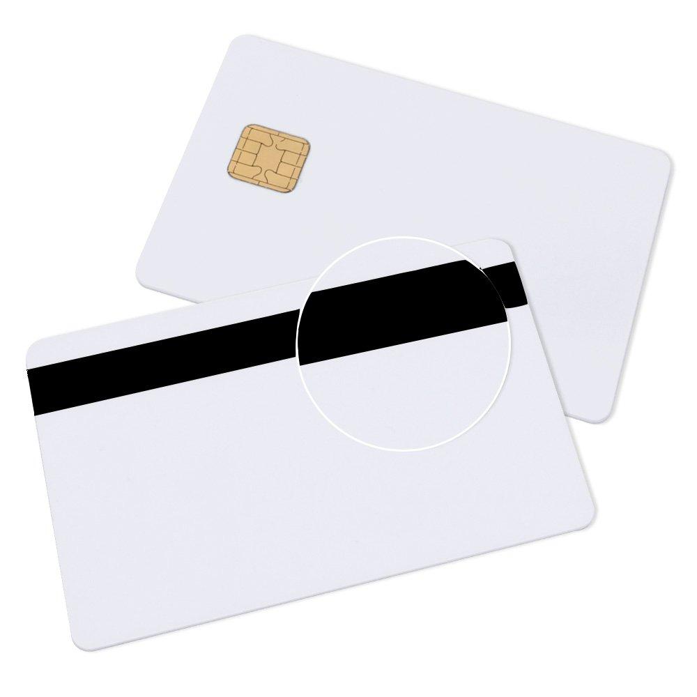 20 Pack J2A040 Java JCOP Chip Cards JCOP21-40K Java Smart Card with 2 Track 8.4mm HICO Magnetic Stripe