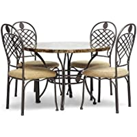 Baxton Studio Hera Modern 5-Piece Dining Set, Brown