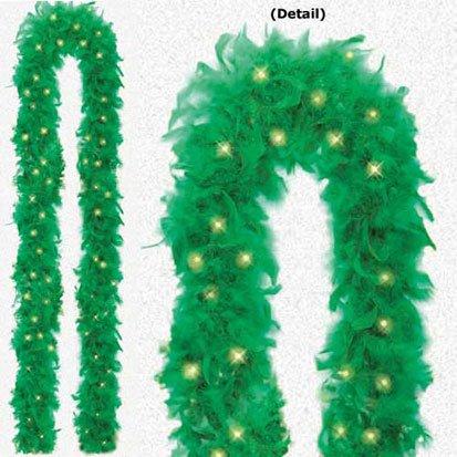 Green Light Up Boa