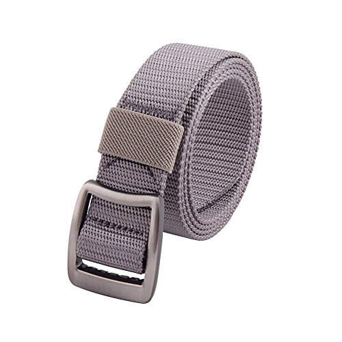 MIJIU Mens Womens Tactical Duty Belt Nylon Webbing Brlt (Ladie D-ring Belt)