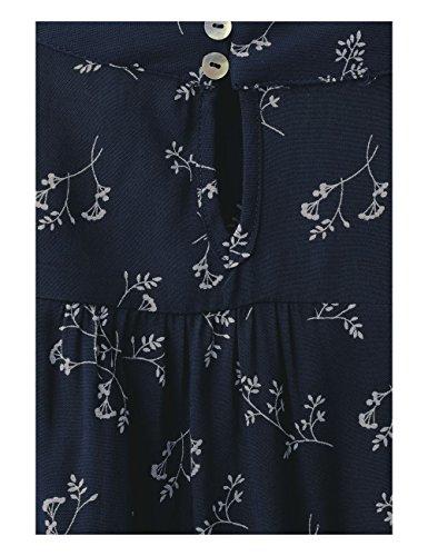 and Femme Blue Gathered Blouse Hem Print One Uni Night Street 20109 Blau qExZpvwW