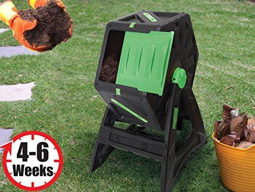 Compostador autogiratorio de 70 litros Fácil de ensamblar Plástico muy resistente y con protección UV adecuado para ser usado durante todo el año: Amazon.es: Jardín