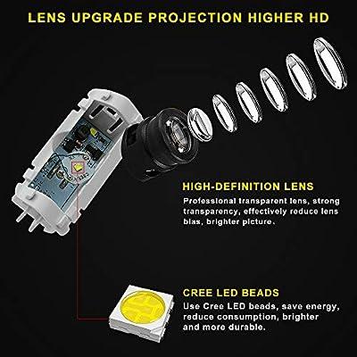 4Pcs LED Car Logo Lights Ghost Light Door Light Projector Welcome Accessories Emblem Lamp For Infiniti FX37 FX50 G37 G25 Q50 Q60 M25 M35 M37 EX25 EX35 EX37 QX50 QX56 QX70 QX80 FX G M EX Compatible: Automotive