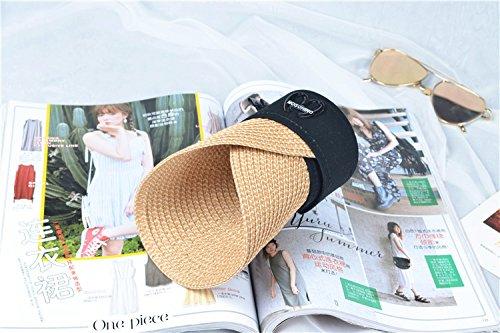 (クルーズライン)CRUISE LINE 紫外線対策に ワンポイント 麦わら サンバイザー 帽子 キャップ UVカット ビーチ 海 プール アウトドア A93