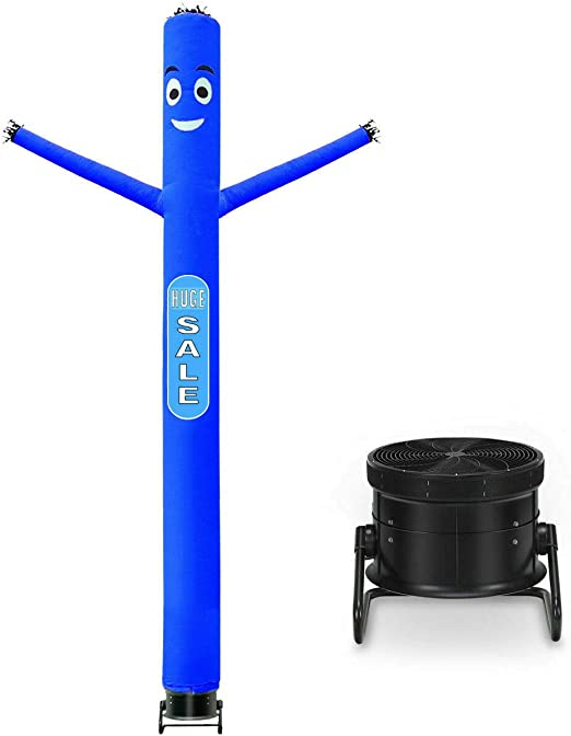 10 Ft Inflatable Puppet Dancer Tube Man Removable Slogans With Blower Blue New
