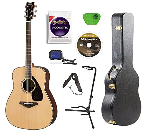 Yamaha FG830 Rosewood Acoustic Guitar with Knox Case,Stand,Strings,Tuner,Strap,Picks for sale  Delivered anywhere in USA