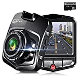 Dash Cam, SQDeal 2.4'' Full HD 1080P Dashboard with 16G SD Card 140 Degree Wide Angle Car Camera Recorder with G-Sensor, Loop Recording, Motion Detection,Night Vision, Parking Monitor (with 16GB card)