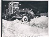 1955 Buffalo NY State Highway Shovel Snow Road Grader Winter Road Wire Photo