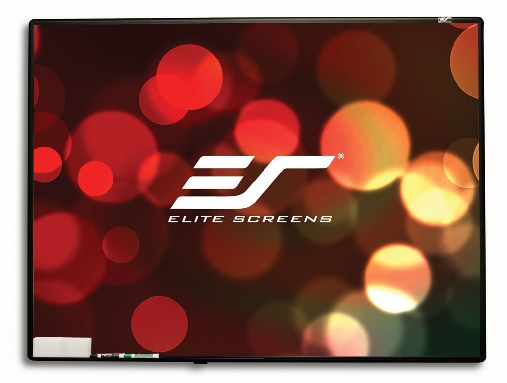 Elite Screens WhiteBoardScreen Series, 80-inch Diagonal 4:3, Ambient Light Rejecting Dry Erase Projection Screen, WB80V