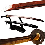 Shijian Folded Steel Japanese Katana Bloody Red Blade Full Tang Samurai Sword
