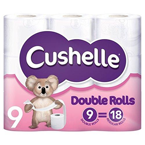 白いロールをスーパーサイズパックあたり18の定期的なロール9に等しいです x4 - Cushelle Supersize White Rolls Equals 18 Regular Rolls 9 per pack (Pack of 4) [並行輸入品] B072DXLJ7D