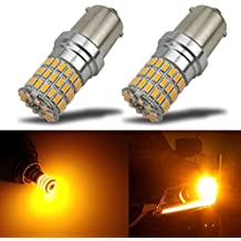 iBrightstar Newest 9-30V Extremely Bright 7507 PY21W BAU15S 2641A LED Bulbs replacement for Turn Signal Lights,Amber Yellow