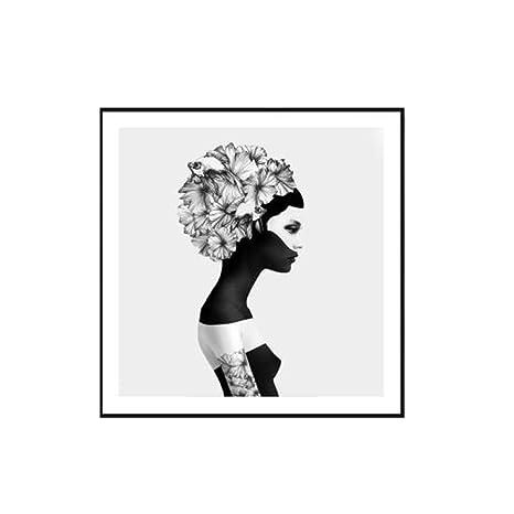 zxddzl Cartel de Lienzo de Arte de Pared de Mujer Abstracto ...