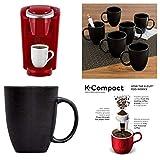 Keurig Red Coffee Maker Sale Keurig K-Compact Single-Serve K-Cup Pod Coffee Maker, Imperial Red Bundle with Matte Swirl Mugs, Black, Set of 6