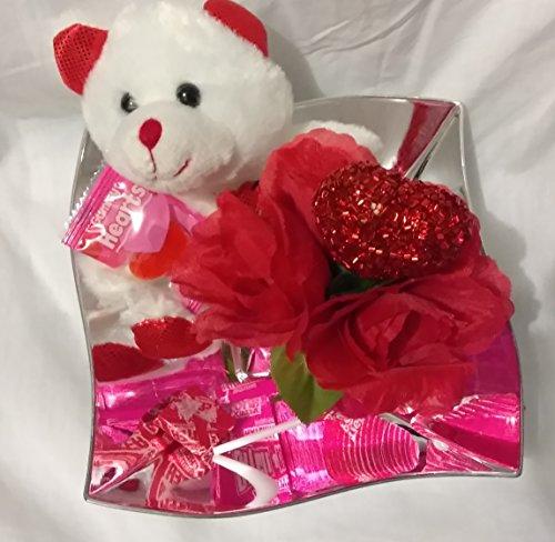 Happy Valentine's Day Kids Candy Basket Decor Decoration LOVE Hearts Teddy Bear Gift Set BEAR