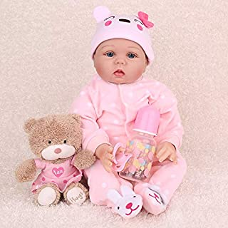 CHAREX Reborn Baby Dolls, 22 Inches Soft Vinly Weighted Baby Doll, Lifelike Baby Girl Doll That Look Real