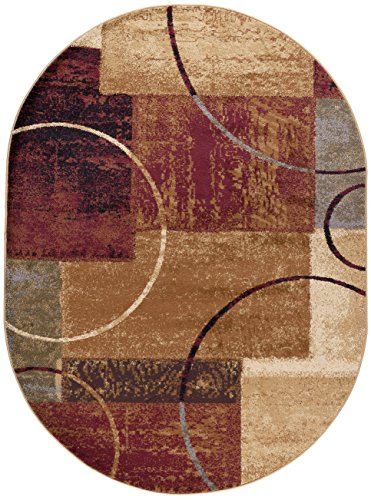 Universal Rugs Contemporary Oval Multi product image