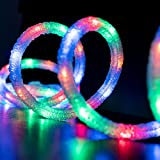 West Ivory 18' feet MULTI-COLOR LED Ribbed Snow Rope Strip Light 120V Indoor/Outdoor Holiday Christmas Decorative, Connectable & ETL certified