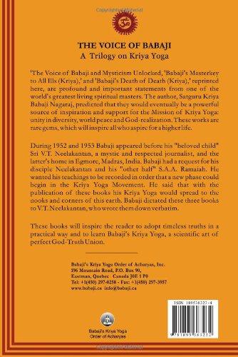 The Voice of Babaji A Trilogy on Kriya Yoga: V. T. ...