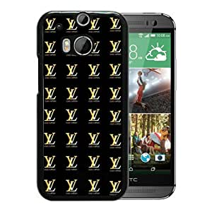 HTC ONE M8 Case,Louis Vuitton 78 Black HTC ONE M8 Screen Cover Case Charming and Elegant Design
