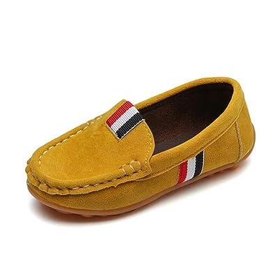 Niños Zapatos Casuales Cuero Gamuza niños Mocasines Todos los tamaños 21-36 niños Slip-on Suave Transpirable Zapatos: Amazon.es: Zapatos y complementos