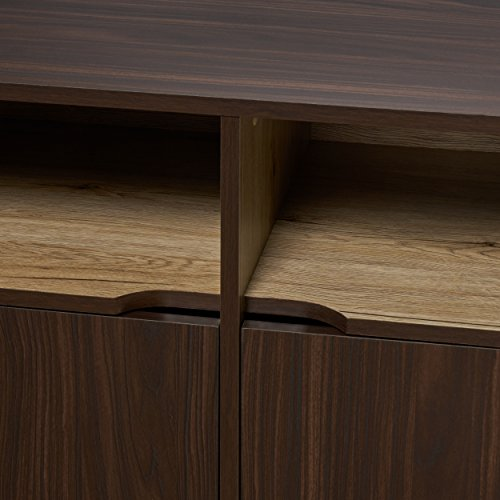 Provence 2-Shelf Walnut Finished Faux Wood Cabinet with Sanremo Oak Interior by Great Deal Furniture (Image #3)