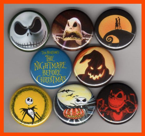 (Tim Burton's the Nightmare Before Christmas Set of 8 - 1 Inch)