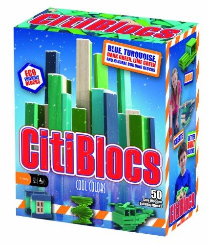 (CitiBlocs 50-Piece Cool-Colored Building Blocks)