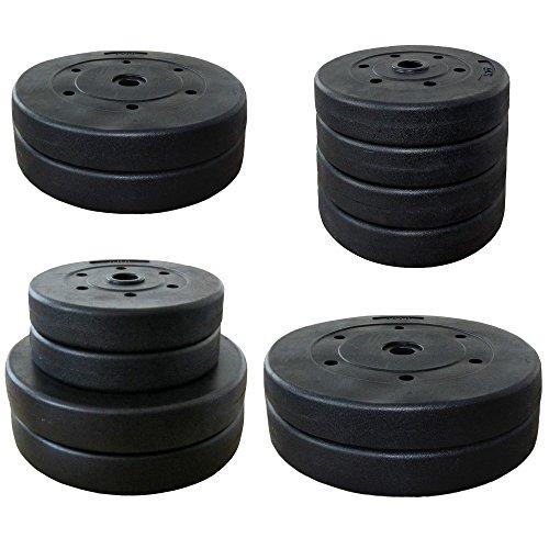 Hantelscheiben Gewichte -Auswahl aus 4 Krafttraining Sets - 4x5 kg / 2x10 kg / 2x10 2x5 kg oder 2 x 15 kg: 4 x 5 KG SET