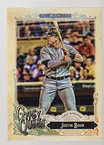 2017 Topps Gypsy Queen #232 Justin Bour Miami Marlins