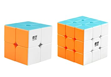 get new new collection new york Coogam Qiyi Speed Cube Bundle 2x2 3x3 Magic Cube Set Qidi s 2x2 Warrior W  3x3 Stickerless Puzzle Toy Pack