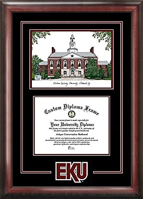 Eastern Kentucky University Spirit Graduate Diploma Frame with Imprinted Lithograph
