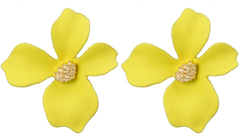 Selomore Flower Earrings for Women and Girls Set Ears Simple Chic Jewelry Alloy Earrings