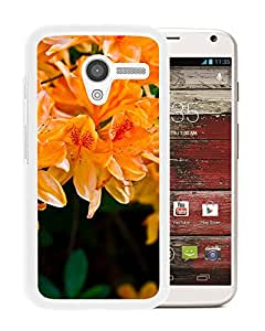 Unique DIY Designed Cover Case For Motorola Moto X With Orange Rhododendron Flower Mobile Wallpaper (2) Phone Case