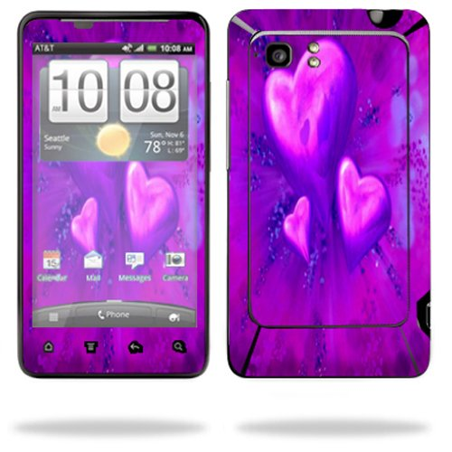 Mightyskins Protective Vinyl Skin Decal Cover for HTC Vivid 4G PH39100 B AT&T Cell Phone wrap sticker skins Purple Heart (Ph39100 Htc Cover)