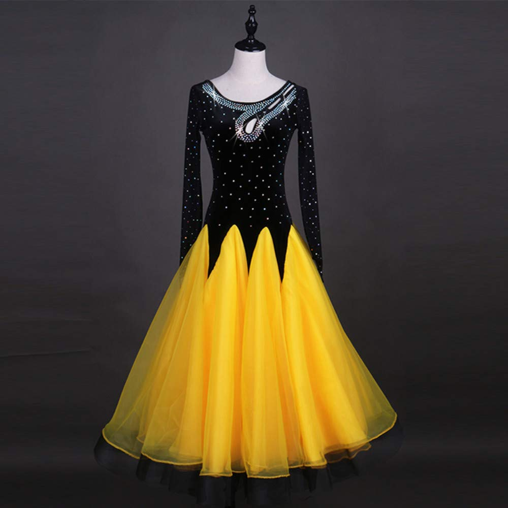 正規激安 現代のワルツタンゴパフォーマンスコスチューム滑らかな全国標準社交ダンスドレスコンペティションダンスの衣装グレートスイング B07PBZKBDK B07PBZKBDK Yellow XL Yellow XL Yellow XL, レヨンベールアクア:da478d81 --- a0267596.xsph.ru