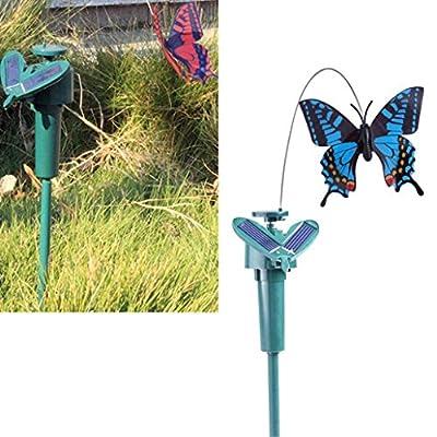 LiPing Yard Stake Fluttering Butterfly/Bird Outdoor Decorative Solar Power Path Way Wall Landscape Mount Garden Fence