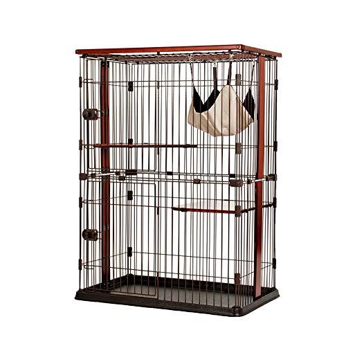 Amazon.com : Pet Playpens Double Layer Cat Cage Small Pet ...