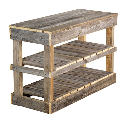 del Hutson Designs Rustic Barnwood Shoe Rack (Natural)