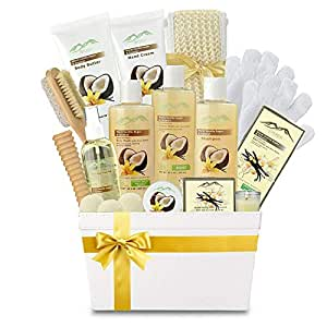 Premium Deluxe Bath & Body Gift Basket. Ultimate Large Natural Spa Basket! #1 Spa Gift Basket for Women & Bath Gift Sets for Women! Sulfate & Paraben Free Home Spa Gift Set
