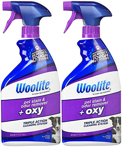 Woolite Pet Stain & Odor Remover Carpet Cleaner + Oxygen, 22 oz-2 pk (The Best Pet Stain Remover)