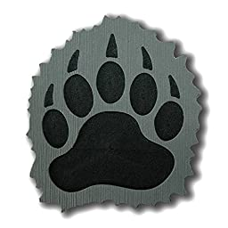 ToeJamR Stomp Pad - Furry Black Bear Paw - Gray