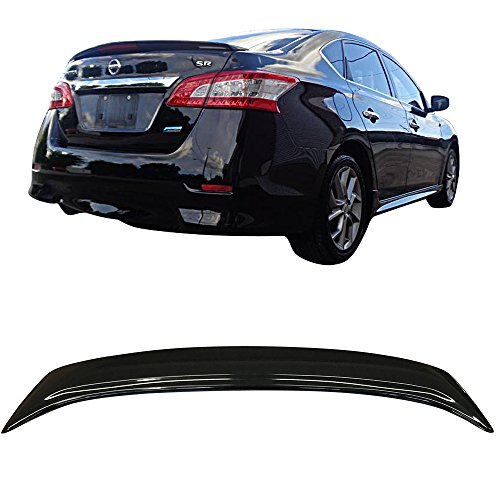 Pre-Painted Trunk Spoiler Fits 2013-2017 Nissan Sentra | Factory Style Painted #KH3 Black Obsidian ABS Trunk Boot Lip Spoiler Wing Deck Lid Other Color Available By IKON MOTORSPORTS | 2014 2015 2016