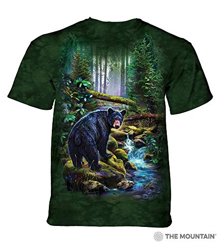 The Mountain Unisex-Adult's Black Bear Forest, Green, Large