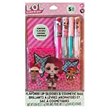 LOL SURPRISE FLAVORED LIP GLOSSES & COSMETIC BAG SET WITH SURPRISE FLAVORS