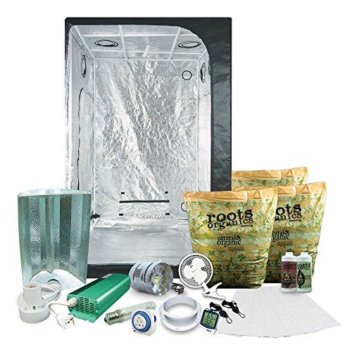 "51sS8kU1SAL - Complete 4 x 4 (47""x47""x79"") Grow Tent Package With 600-Watt HPS Grow Light + Organic Soil & Nutrients"