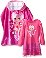 Intimo Little Girls' L/S Lalaloopsy Jewel Night Gown Pj + Hooded Poncho