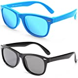 MotoEye Kids Polarized Sunglasses for Children Age 4-12 Years Old, Girl or Boy Styles, Pack of 2