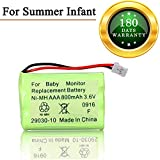 Cheap for Summer Infant Baby Monitor Replacement Battery for Summer Infant Wide View 29000 29000A & Clear Sight 29040 29030 Parent Handheld 3.6V 800mA