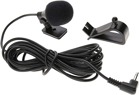 Flameer Autoradio Externes Mikrofon Mit Schneller Und Genauer Datenübertragung 3 5 Mm Rechtwinklig Musikinstrumente